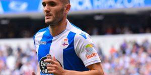 Lucas Pérez, con el Deportivo.
