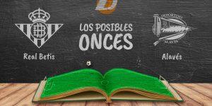 Los posibles onces del Betis y Alavés correspondiente a la jornada 9 de LaLiga.