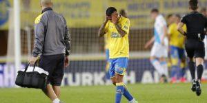 Jonathan Viera se lamenta en un partido.