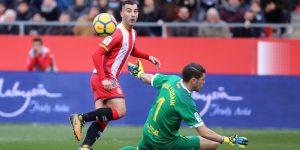 Futbol. Temporada 2017/18. 1a divisió. Partit entre el Girona i Las Palmas a l'estadi de Montilivi. Estats d'ànim, jugades, porters, ambient, llotja... de tot!