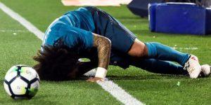 Marcelo se duele en el Benito Villamarín.
