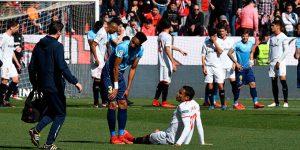 Muriel se lesiona en el partido ante el Girona. (Foto: Kiko Hurtado).