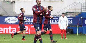 Ramis celebra su gol ante el Sevilla.