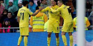 Fornals celebra un gol con el Villarreal.