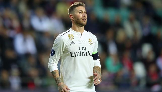 Sergio Ramos, en un partido con el Real Madrid.