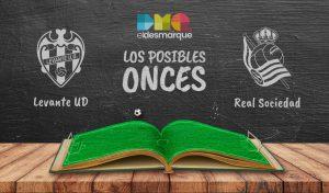 Los posibles onces del Levante-Real Sociedad.
