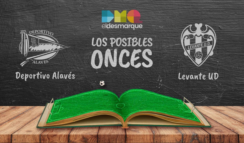 Posibles onces del Alavés-Levante.