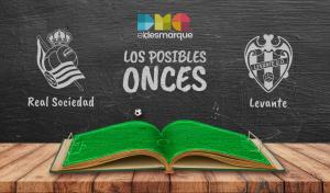 Los posibles onces del Real Sociedad-Levante.