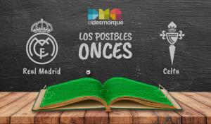 Los posibles onces del Real Madrid-Celta.