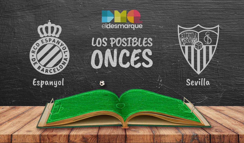 Posibles onces del Espanyol-Sevilla.
