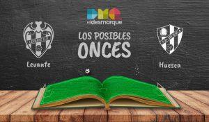 Los posibles onces del Levante-Huesca.